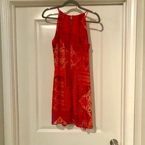 Sweet Storm Dresses - Adorable orange paisley dress